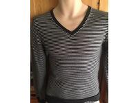 GAP black/white stripe Italian wool jumper sized as XS