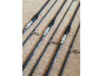 3 x Century FS 12' 2.75lb tc carp rods