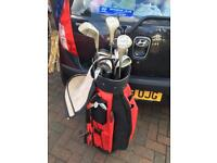 Left handed Pinseeker golf clubs