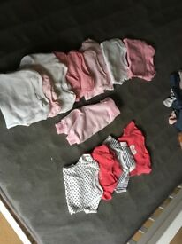 Up to 1 month, 0-3 - baby grows, vests, trousers, tops. Some worn some not.