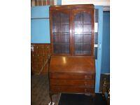 1920`s Mahogany Bureau Bookcase