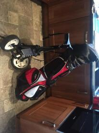 Golf clubs, bag & trolley