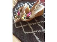 Wedge sandals size 3