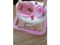 Pink baby walker