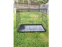 Large slanted dog cage