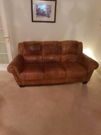 leather suite , 3seater and 2 seater