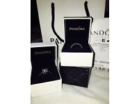 Pandora (genuine)ring and Family /Love charm