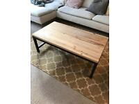Industrial wooden & iron coffee table