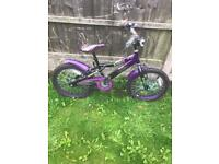 "PURPLE COLOURFUL GIRLS CHRISTINE BIKE, 18"" WHEELS, FULLY WORKING AND REALLY GOOD CONDITION"