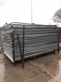 ⚙️ Heras Style Temporary Metal Fence Panels ~ Site Security Fencing ~ Used