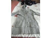 A Beautiful Knitted Ladies Coat with Hood size 16