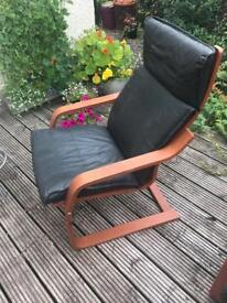 Leather IKEA style chairs