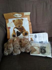 SOFT TOY KNITTING & SEWING KIT - Popcorn Bear
