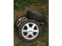 Tyres used. 165/60 RO14 for Ford KA First Generation X 4. Also two good alloy wheels.