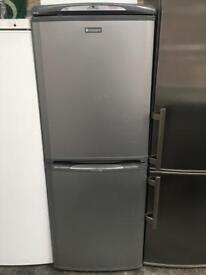 HOTPOINT free standing fridge freezer 5 An Half Ft Tall Silver in perfect Working Order