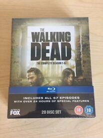 The Walking Dead S1-5 Boxset Blu-Ray New & Sealed