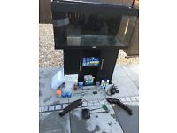 Juwel 180 litre fish tank and cabinet and loads of accessories