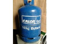 Calor gas bottle 15kg, EMPTY, Butane, blue bottle.