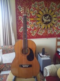 Two acoustic guitars One Free.(decorative wall hanging only)...