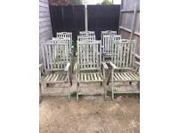 Garden chairs set of 9 !!!!!
