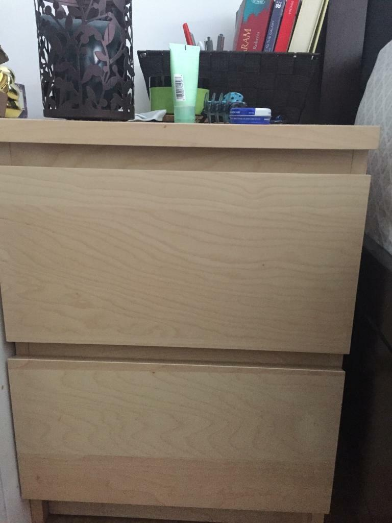 Night Standin ManchesterGumtree - Bought from Ikea at $90. Selling for £40. Brand new condition. Items shown on top of night stands are not for sale