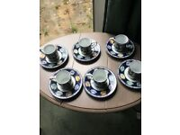 Unused Whittard Espresso Cup And Saucer Set X6