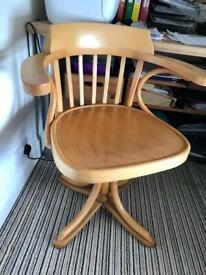 Lovely Wooden Swivel Chair