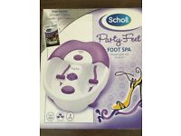 Scholl Party Feet Foot Spa- Not Used, unwanted gift