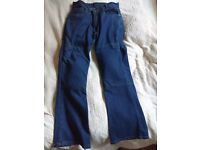 Ladies Kevlar motorcycle jeans, worn 3/4 times, size 10