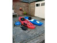 Ocean malibu xl & feelfree sit on top kayaks with j bars