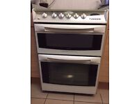 Cannon Cambridge Double Oven - White Gas Cooker