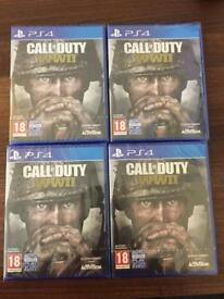 Ps4 call of duty WWII Brand New sealed