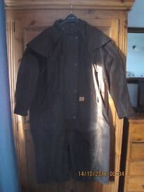 long waxed coat