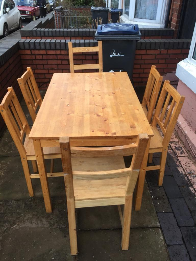 Lovely pine solid dining table with 6 Chairs | in Perry ...