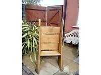 Handcrafted chestnut tree trunk chair