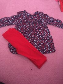 0-3/3-6 girls outfit bundle