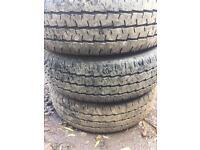 3x195/65/16c van tyres
