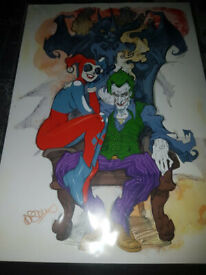 Batman, Joker, Harley Quinn A4 PRINT sealed