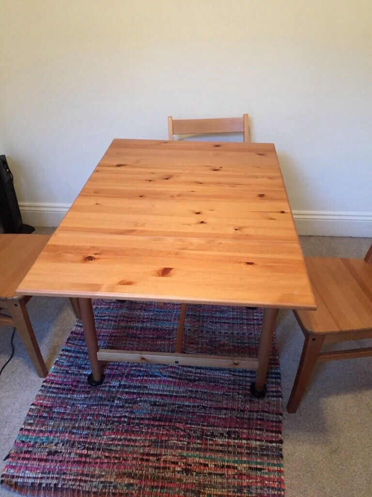 For Sale Small Ikea Dining Table And 2 Folding Chairs In