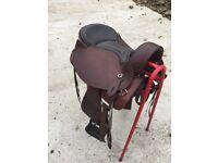 """16"""" western saddle with shims"""