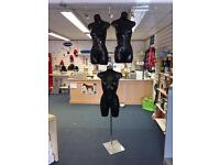 Half mannequins and standalone mannequin