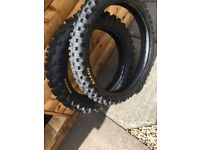 "Maxxis Enduro 125 250 Trial Bike Tyres 18"" Rear & 21"" Front"
