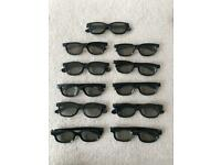 11 pairs of 3D cinema/TV glasses. Collect Chichester