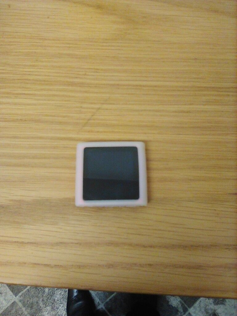 Pink Ipod Nano 6th Generation 8gb in perfect condition with silicone casing