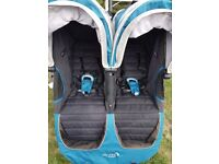 Baby jogger city mini double in blue. In excellent condition.