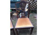 2 x Hepplewhite-style dining chairs