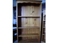 Bookcase / Bookshelf or multipurpose shelving unit, solid pine, excellent quality, NEW