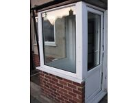 UPVC Door and 2 large UPVC windows - Ex Porch - used but in good condition