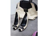 Karen Millen marching handbag and shoes