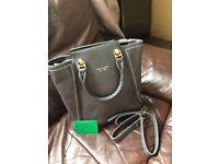 New grey PRADA leather handbag bag